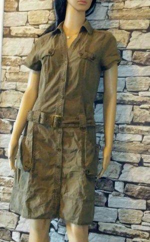 Promod Vestido de camuflaje caqui-verde hierba Algodón