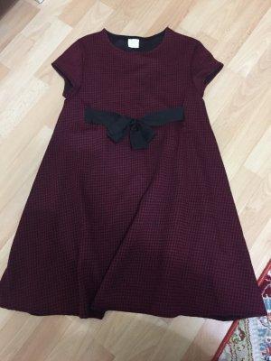 Zara Vestido negro-burdeos