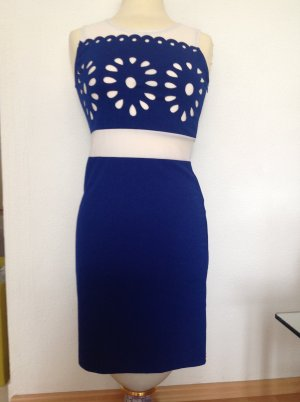 Kleid G&Y , blau/weiß , gr. 34