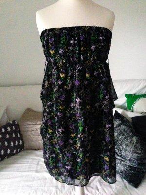 Kleid geblümt Größe XS neu schulterfrei