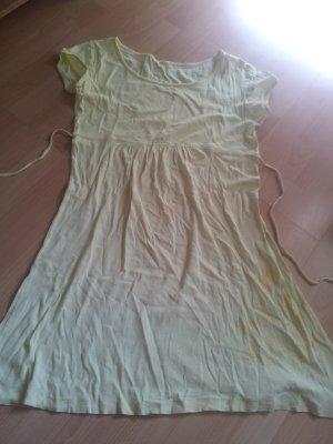 Kleid gelb Blumendruck transparent durchsichtig Gr.44/46