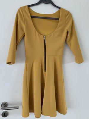 Kleid gelb mit Reißverschluss Asos