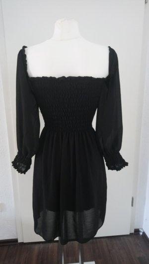 Kleid gerafft chic schwarz Vampirin Hexe