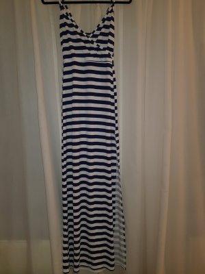 Kleid gestreift blau weiß Größe 36 Maxikleid mit seitlichem Schlitz.