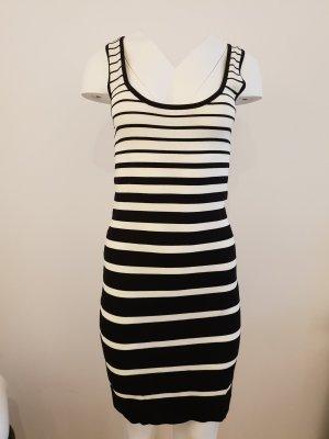 Mango Suit Shirt Dress white-black