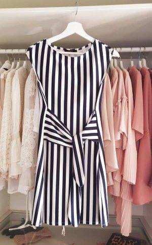 Kleid Gestreift Marine Mohito Taille Schleife S