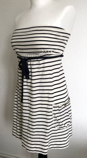 Kleid gestreift, Marineblau