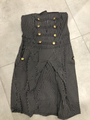 Vestido bustier gris-negro