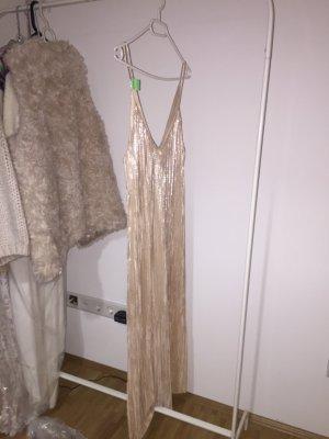 Kleid Gold Schimmer Zara
