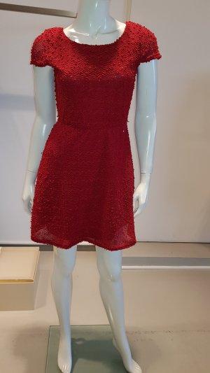 Wollen jurk rood