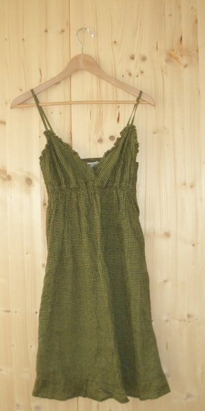 Hippie Dress khaki-black cotton