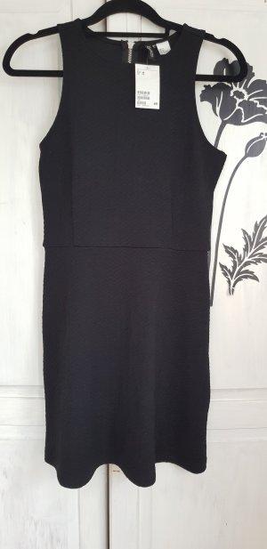 H&M Cut out jurk zwart Polyester