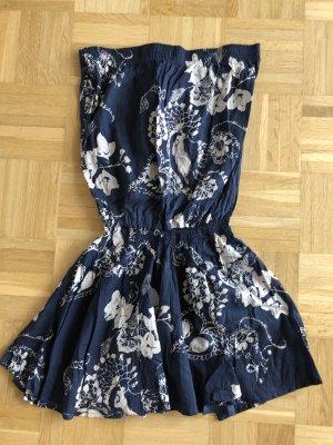 Kleid, Gr. 38, blau, schulterfrei