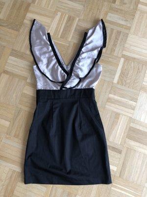 Kleid, Gr. 38, H&M, schwarz, Rose
