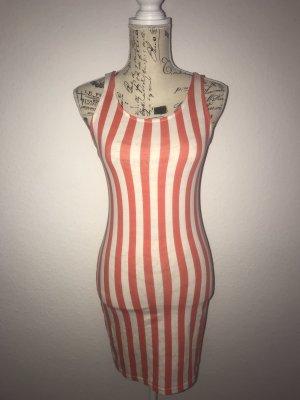 Kleid Gr.38 Weiß-Rot