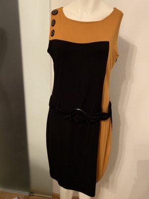 b.p.c. Bonprix Collection Shirt Dress black-gold orange