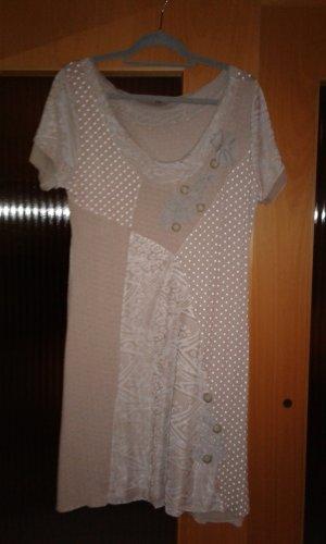 Kleid Gr. 44 beige/weiß