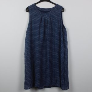 Hippie Dress dark blue-steel blue