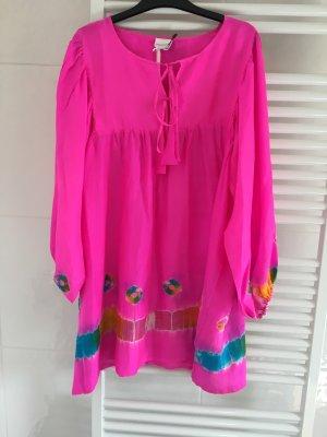 Vestido tipo túnica multicolor Seda