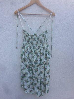 Kleid gr.M weiß mit Blumen