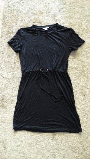 H&M Jerseyjurk zwart-goud
