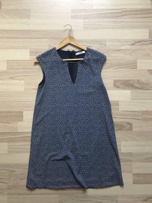 Mango Stretch Dress blue-white