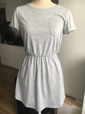 H&M Jersey Dress light grey-silver-colored