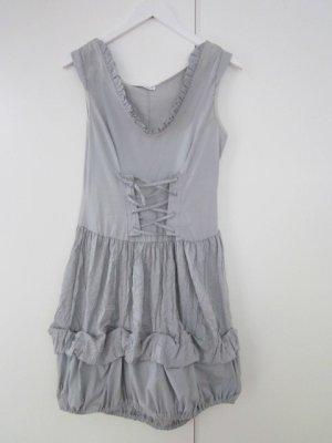 Kleid grau weiss mit Corsage