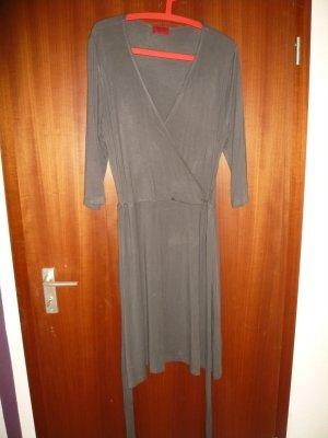 Kleid grau Wickeloptik Gr.46 (L) neu Vivien Caron