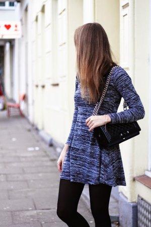 Kleid / Grau / Zara / Basic / Blogger