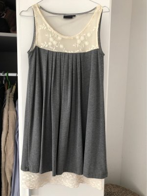 Rainbow Babydoll Dress silver-colored-white
