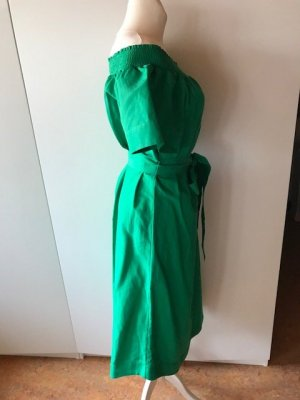 J.crew Off-The-Shoulder Dress green mixture fibre