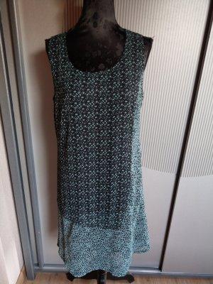 Kleid grün schwarz türkis liberty