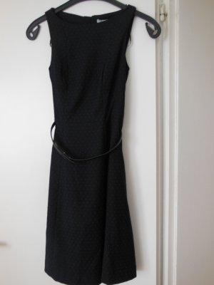 Kleid H&M A- Linie, Gr. 34 ungetragen, dkl.blau mit weissen Punkten
