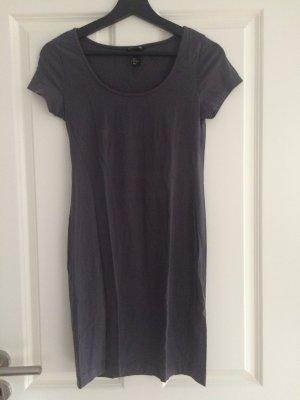 Kleid, H&M, blaugrau, S, 36, kurzarm
