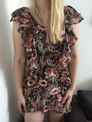 Kleid h&m gr. S 38 Blumen Blogger Sommer