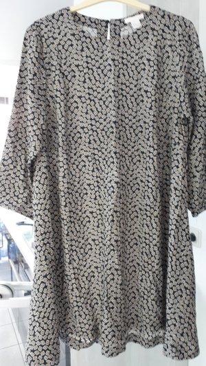 Kleid H&M, Grösse 42, schwarz-weiß-gelb