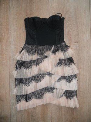 Kleid H&M nude schwarz Gr. 34