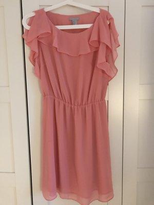 Kleid h&m rosa neu mit rüschen