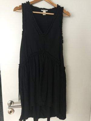 H&M Chiffon jurk zwart Polyester