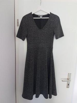 Kleid H&M schwarz-weiß meliert