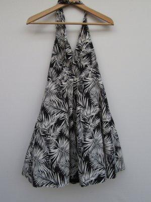 H&M Vestido Hippie negro-blanco