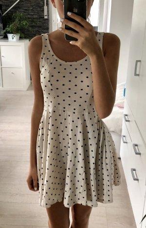 Kleid, H&M, XS/34, beige mit schwarzen Punkten