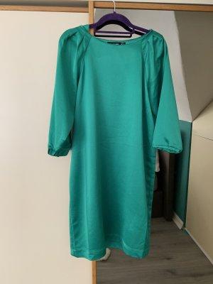 Kleid Hallhuber grün 36 Seidenkleid Businesskleid