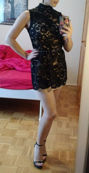 Kleid Hallhuber Spitze Gr. 36 S schwarz spitzenkleid lace sexy party elegant