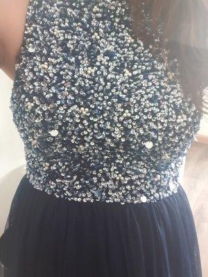 Lace & Beads Robe à paillettes bleu