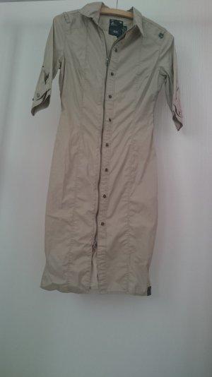 Kleid Hemd G-star Gr. XS beige