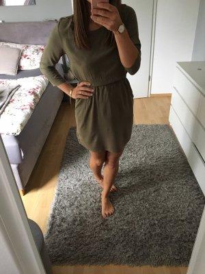 Kleid Herbstkleid Khaki Grün 34 H&M Neu mit Etikett