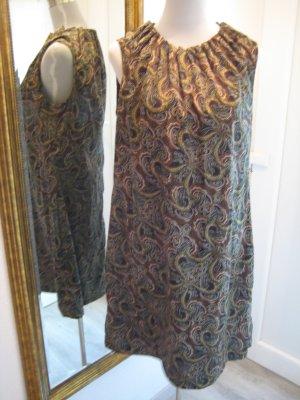 Kleid Hochgeschnitten schwarz gemustert Ethno Gr.42