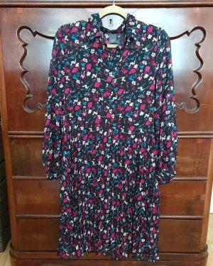 Kleid ICHI neu schwarz pink blau midi